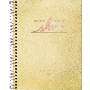 Planner Tilibra Cambridge Shine 2021 Médio Espiral