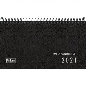 Agenda Tilibra Cambridge 2021Executiva Semanal Espiral Bolso