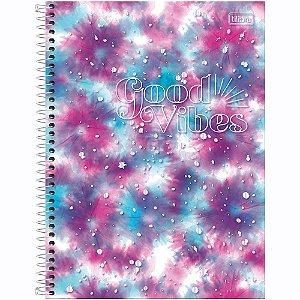 Caderno Tilibra Good Vibes 10 Matérias Universitário Espiral 160Fls