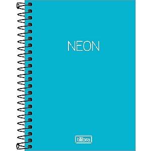 Caderneta Tilibra Neon Azul 1/8 Espiral Sem Pauta 80Fls