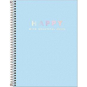 Caderno Happy 1 Matéria Universitario Espiral 80Fls Tilibra
