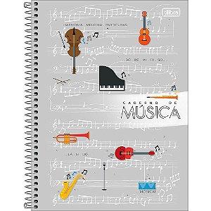 Caderno Tilibra De Musica Universitario Espiral 80Fls