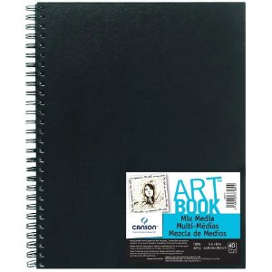 Caderno Artbook Canson Mix Media 224 g/m² 40 Fls 22,9X30,5