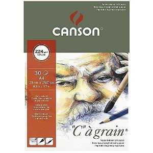 Bloco Canson C A Grain A4 224 g/m² Grão Fino 21x29,7 30 Fls