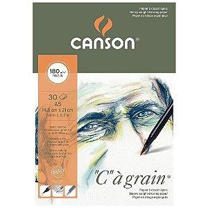 Bloco Canson C A Grain A5 180 g/m² Grão Fino 14,8x21 30 Fls