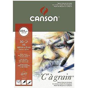 Bloco Canson C A Grain A5 224 g/m² Grão Fino 30 Fls