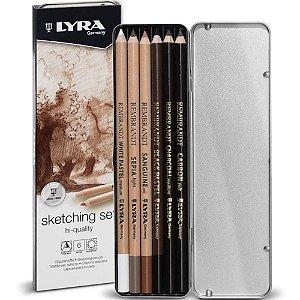Lapis Lyra Rembrandt Sketching Set C/6 Peças