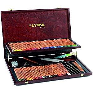 Lapis Cor Lyra Rembrand Polycolor 100 Cores Caixa Madeira Profissional