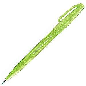 Caneta Pincel Pentel Brush Sign Pen Verde Claro