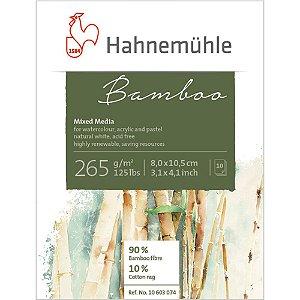 Bloco Bamboo Mixed Media Mini 265 g/m² 8x10,5 10Fls Hahnemuhle