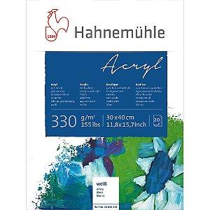 Bloco Acrílico Hahnemuhle Acryl 330 g/m² 30x40 20 Folhas