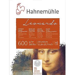 Bloco Aquarela Leonardo 600 g/m² Rough 30X40 Hahnemuhle
