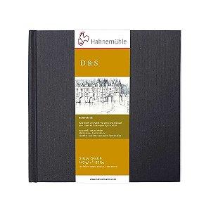 Sketch Book D&S Preto 140 g/m² Hahnemuhle 14x14 80Fls