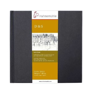Sketch Book D&S Preto 140 g/m² 19,5X19,5Cm 80Fls Hahnemuhle