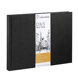 Sketch Book D&S A5 Preto 140 g/m² 80 Fls Hahnemuhle Paisagem