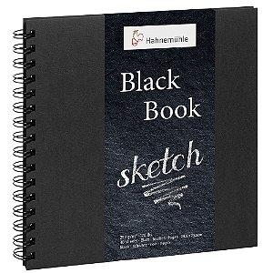 Caderno Espiral 23,5x23,5cm Hahnemuhle Black Book 250 g/m² 30 Folhas