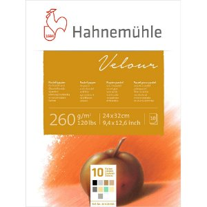 Bloco Pastel Velour 260 g/m² 10 Cores 24x32 10Fls Hahnemuhle