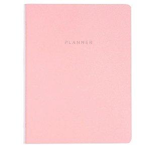 Planner Cicero Mensal Rosa Pastel Planejamento 19x25
