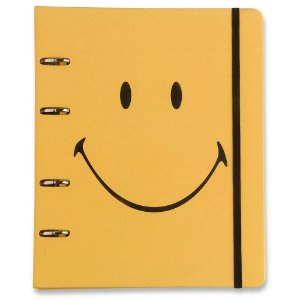 Caderno Fichário Criativo Cicero Smiley Amarelo Pautado