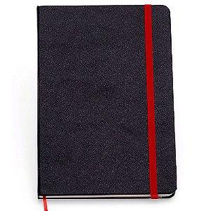 Caderneta Clássica Cicero Sem Pauta Preto Vermelho 14x21
