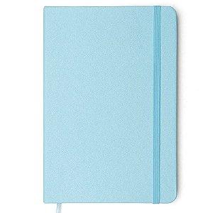 Caderneta Clássica Pontada Azul Pastel 14x21 Cicero 160 fls