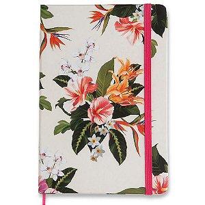 Caderneta Cicero Flora Tropical Pontado 14x21