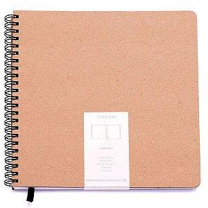 Caderno Cicero Kraft Sem Pauta 20x20