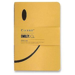 Kit 4 Cadernetas Revistas Cicero Notas Mix Smiley
