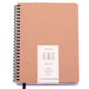 Caderneta Cicero Kraft Sem Pauta 14x21