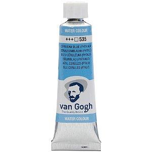 Tinta Aquarela Van Gogh 535 Cerulean Blue Phthalo 10Ml Talens