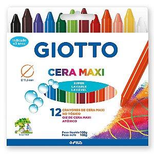 Giz De Cera Giotto Maxi 12 Cores