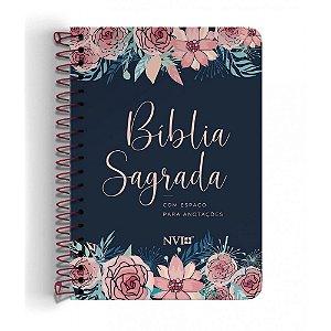 Bíblia Anote Nvi Espiral - Capa Rosas