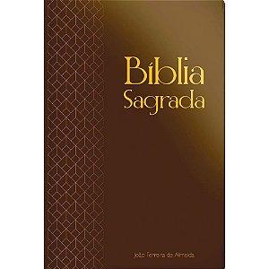 Bíblia Sagrada Arc Gigante Com Mapa - Capa Semi Luxo Marrom