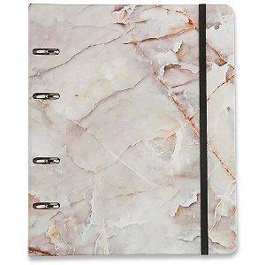 Caderno Fichário Criativo Cicero Minerais Mármore Pautado