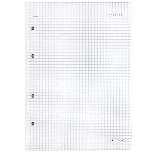 Refil Caderno Fichário Criativo Cicero Polen 40Fls 90G Quadriculado