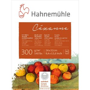 Bloco Aquarela Cezanne Hahnemuhle 300g/m² 24X32 Hot Pressed 10Fls