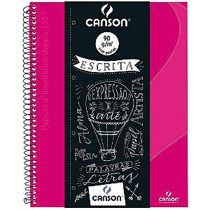 Caderno Pautado Escrita Canson A4+ Rosa 80Fls 90G