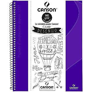 Caderno Desenho Canson C A Grain A4+ Ultra Violeta 40Fls 140G