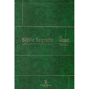 Biblia Nvi Couro Bonded Verde Letra Grande - Leitura Perfeita