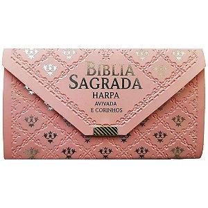Bíblia Sagrada Carteira Rosa C/ Harpa Arc