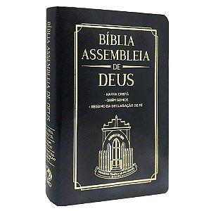 Bíblia Das Assembleias De Deus Preta (Capa Igreja)
