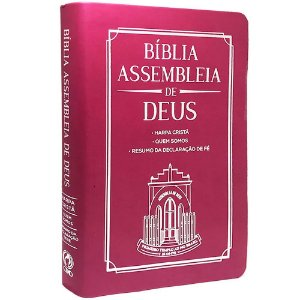 Bíblia Das Assembleias De Deus Rosa Pink (Capa Igreja)