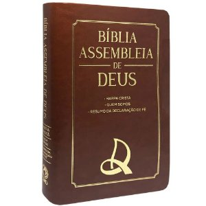 Bíblia Das Assembleias De Deus Marrom Cp Logo Ad