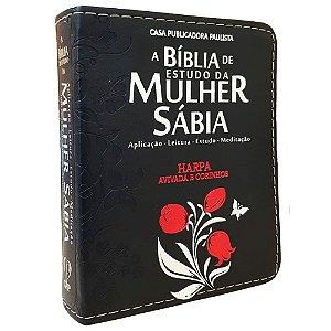 Bíblia De Estudo Da Mulher Sábia Preta - Mod. 01 Tulipa