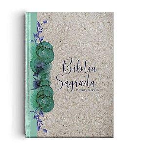 Bíblia Sagrada Rc Gigante - Capa Especial Reciclato Floral