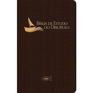 Bíblia De Estudo Do Discípulo - Capa Luxo Marrom