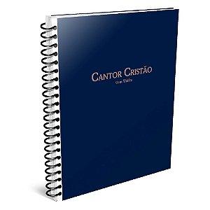 Cantor Cristão Grande Com Música - Azul (Espiral)