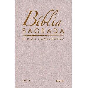 Bíblia Sagrada Edição Comparativa Extra-Gigante - Capa Luxo Bege (Rc-Nvi)
