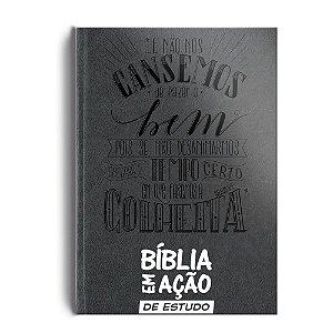 Bíblia Em Ação De Estudo - Capa Luxo Cinza