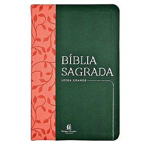 Bíblia Sagrada Nvi Letra Grande - Capa Couro Soft Verde